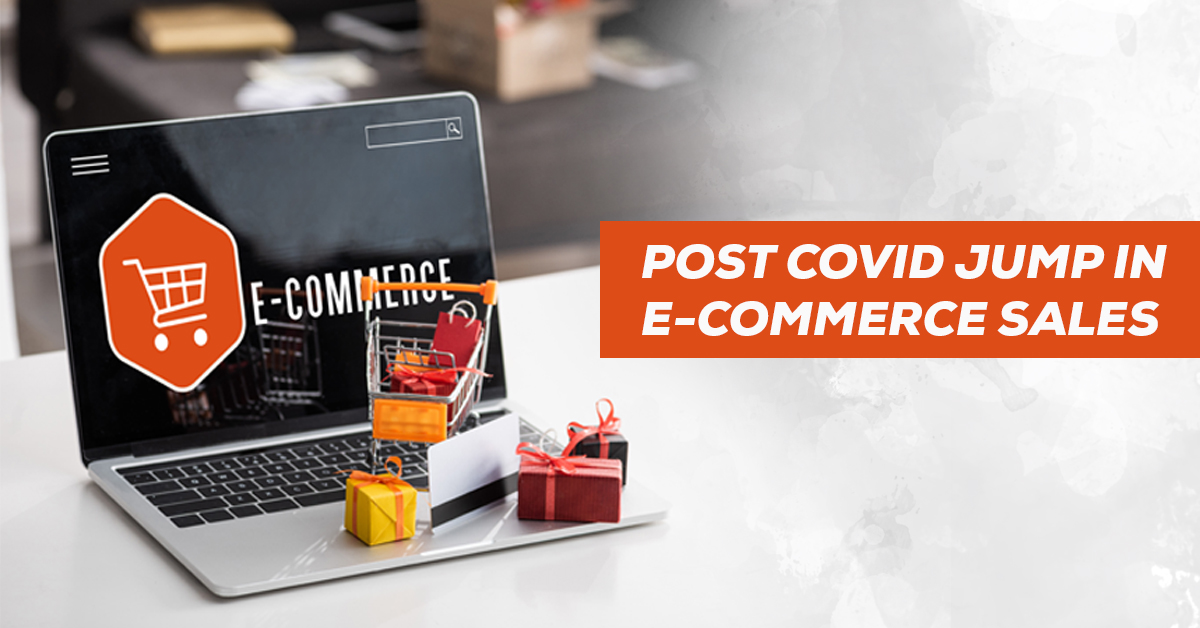 Post covid jump in eCommerce sales